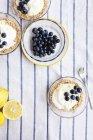 Tartes au citron et aux bleuets — Photo de stock