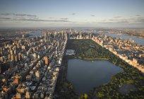 Повітряна фотографія Центрального парку в Манхеттен, Нью-Йорк Сіті, Нью-Йорк, США — стокове фото