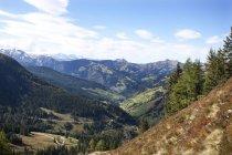 Vue sur la vallée de Ellmau, Radstaetter Tauern, vallée de Grossarl, Pongau, Autriche — Photo de stock