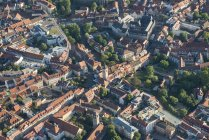 Germany, Erfurt, aerial view of the old city — Stock Photo