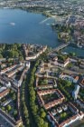 Aerial view of Konstanz city at daylight, Lake Constance, Germany — Stock Photo