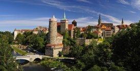 Германия, Саксония, Баутцен, Вид на исторический старый город — стоковое фото