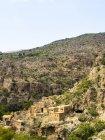 Pueblo abandonado de Omán, Jabal Akhdar, Wadi Bani Habin - foto de stock