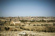 Городской пейзаж с купол скалы, Иерусалим, Израиль — стоковое фото