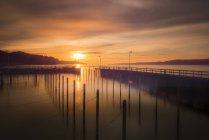 Германия, Боденское озеро, Зипплинген гавань в зимний solistice — стоковое фото