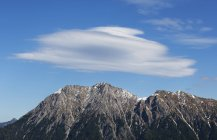 Austria, Salzburg State, Pongau, Foehn cloud over Kraxenkogel and Ennskraxen — Stock Photo