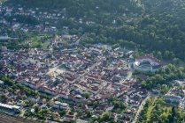 Germany, Meiningen, aerial view of the old town with Elisabethenburg Castle — Stock Photo