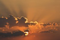 Germany, Bavaria, evening sun, clouds — Stock Photo