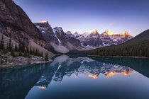 Озера Канади, Альберти, льодовикові, морени, Banff Національний парк — стокове фото