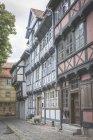 Німеччина, Кведлінбург, ряд Фахверкові будинки — стокове фото