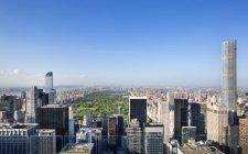 США, Нью-Йорк, міський пейзаж центрі Манхеттена і Центральний парк з вище — стокове фото