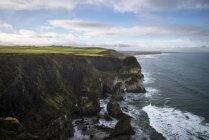 Ireland, Northern Ireland, aerial view of the coast — Stock Photo