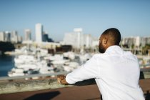 Spain, Barcelona, man looking at view — Stock Photo