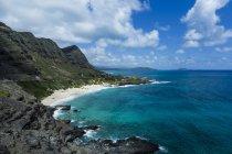 Stati Uniti, Hawaii, Oahu, Honolulu, Vista dal faro di Makapuu Point — Foto stock