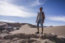 Долина Чилі, Сан-Педро-де-Атакама, місяця, мандрівного в пустелі — стокове фото