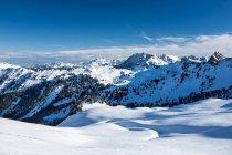 Австрия, Grossarl, Filzmooshoerndl, зимний пейзаж в дневное время — стоковое фото