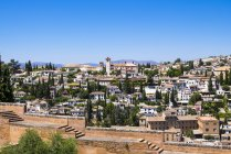 Spain, Andalucia, Granada, Alhambra Palace and traditional buildings — Stock Photo