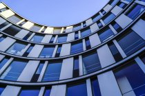Part of facade of modern office building, Hamburg, Germany — Stock Photo