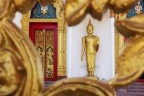Thailand, Phuket, golden Buddha statue at Wat Putta Mongkon — Stock Photo
