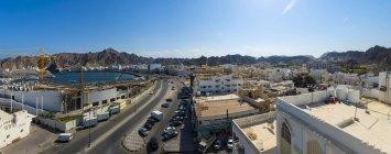 Oman, muscat, Blick auf Bahiri Road bei Tag — Stockfoto
