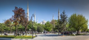 Turkey, Istanbul, view to Sultan Ahmed Mosque during daytime — Stock Photo