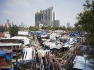 India, Maharashtra,  Mumbai, Dhobi Ghat, laundry — Stock Photo