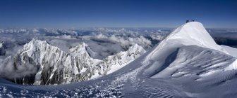 Frankreich, Chamonix, Bergsteiger am Mont Blanc — Stockfoto