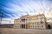 Italy, Trieste, Palazzo del Governo at evening — Stock Photo