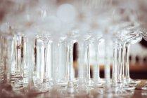 Weingläser auf verschwommenem Hintergrund — Stockfoto