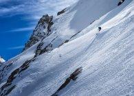 Italia, Rhemes-Notre-Dame, Benevolo, sci alpinismo, discesa — Foto stock