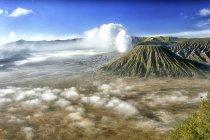 Indonesia, Java, volcanes Bromo, Batok y Semeru - foto de stock