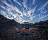 Kulusuk, Grönland Trekking Camp im Morgengrauen — Stockfoto