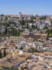 Vista del Palacio de la Alhambra Albayzin, Granada, Andalucía, España - foto de stock