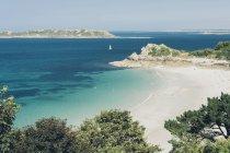 France, Brittany, Cote de Granit Rose, Atlantic ocean — стокове фото