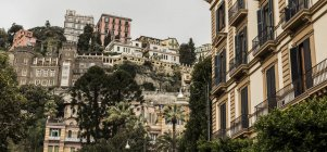 Italy, Naples, view to old palazzi on hill — Stock Photo