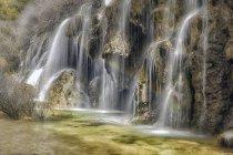 Испания, Cuenca, Водопад на реке Cuervo — стоковое фото