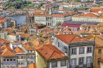 Міський пейзаж Porto зверху — стокове фото