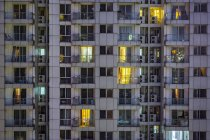 China, Shanghai, Detail of residential highrises — Stock Photo