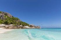 Seychelles, Spiaggia di Grande Soeur Island, Sorella maggiore — Foto stock