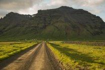 Iceland, road to volcano Eyjafjallajokull — Stock Photo