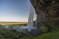 Ісландія, красиві Seljalandsfoss waterfalll — стокове фото