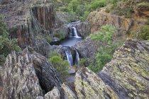 Spagna, Guadalajara, Sierra de Ayllon, Cascada del Aljibe, Aljibe, cascate, Rio Jarama — Foto stock