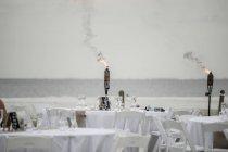 USA, Florida, Bonita Springs, Lovers Key, Vorbereitungen für eine Hochzeit am Strand — Stockfoto