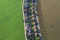 Vue aérienne d'Allemagne, Poing, d'une seule famille maisons settlement — Photo de stock