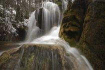 Spagna, Cuenca, Cascata sul fiume Cuervo — Foto stock