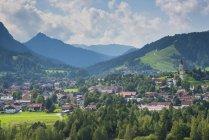 Germania, Baviera, East Allgaeu, Vista su Pfronten — Foto stock