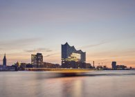 Germany, Hamburg,view to Elbe Philharmonic Hall at morning twilight — Stock Photo