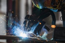 Close-up of welder at work — Stock Photo