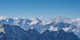 Германия, Бавария, Альгау, Альпы Альгау, как видно из Hoefatsblick встречи на высшем уровне станции на Nebelhorn — стоковое фото