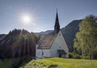 Germany, Bavaria, Chiemgau Alps, pilgrimage church St. Servatius on Streichen — Stock Photo